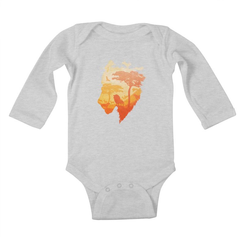 The Soul of a Lion Kids Baby Longsleeve Bodysuit by DVerissimo's