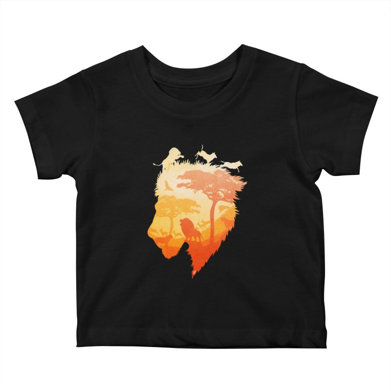 The Soul of a Lion Kids Baby T-Shirt by DVerissimo's