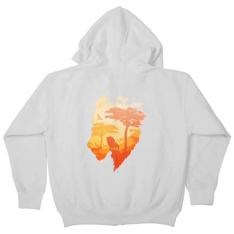The Soul of a Lion Kids Zip-Up Hoody by DVerissimo's