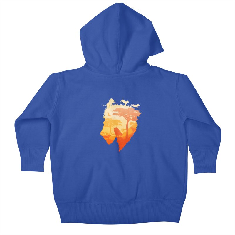 The Soul of a Lion Kids Baby Zip-Up Hoody by DVerissimo's