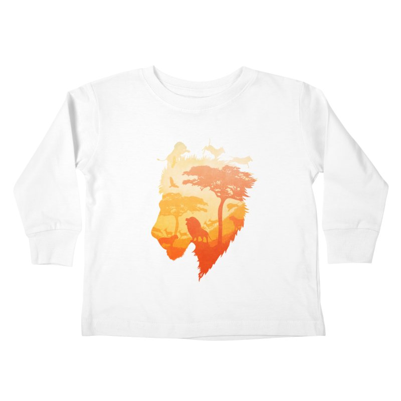 The Soul of a Lion Kids Toddler Longsleeve T-Shirt by DVerissimo's