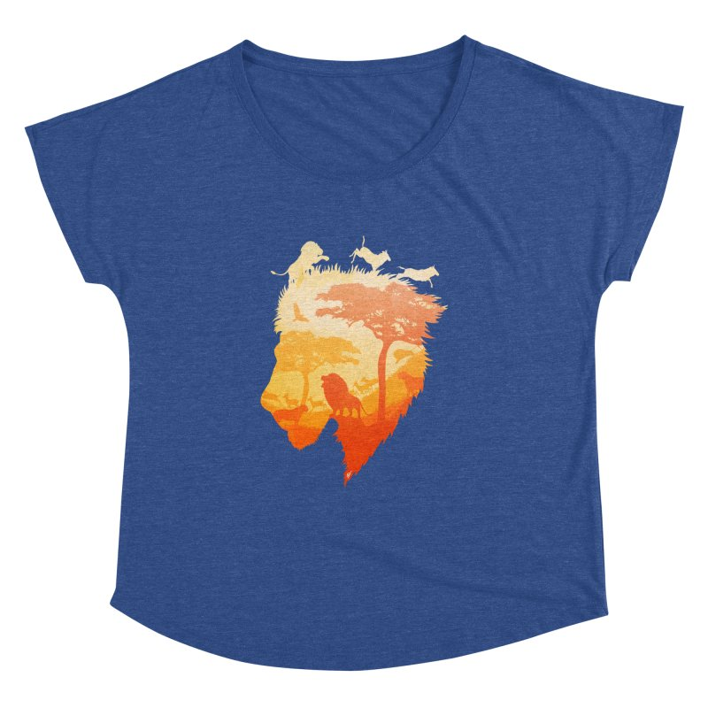 The Soul of a Lion Women's Dolman Scoop Neck by DVerissimo's