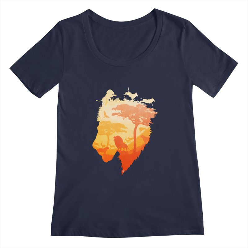 The Soul of a Lion Women's Scoopneck by DVerissimo's
