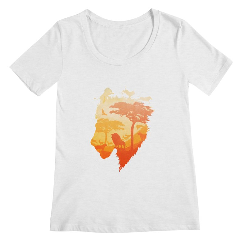 The Soul of a Lion Women's Regular Scoop Neck by DVerissimo's