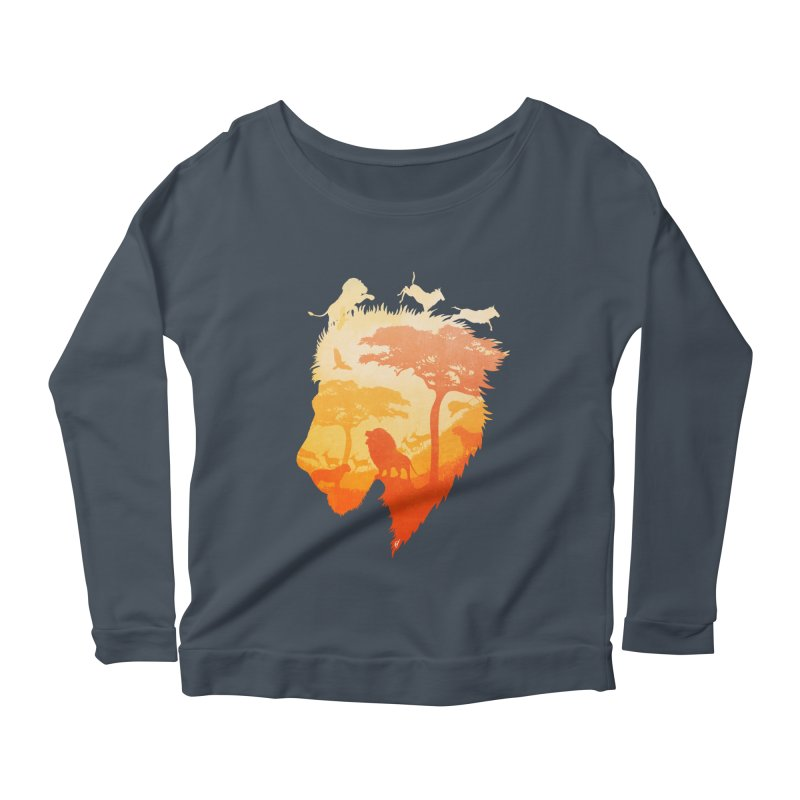 The Soul of a Lion Women's Scoop Neck Longsleeve T-Shirt by DVerissimo's