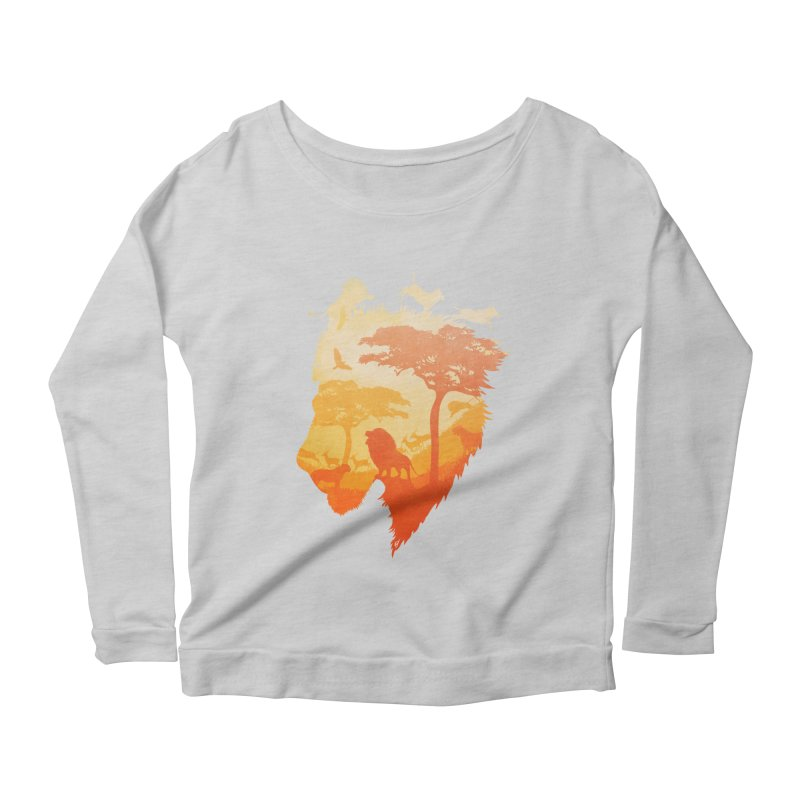 The Soul of a Lion Women's Longsleeve Scoopneck  by DVerissimo's