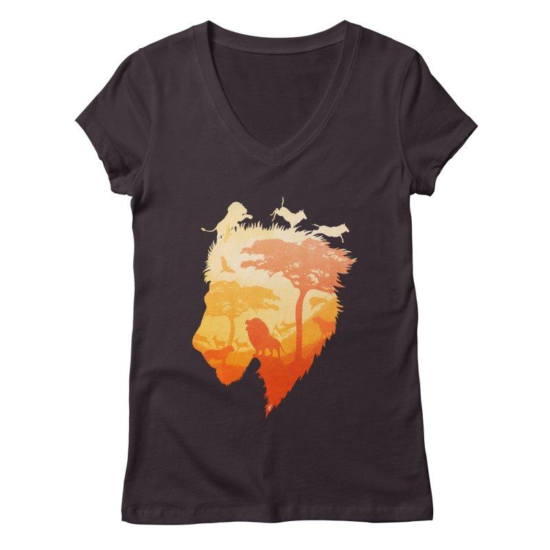 The Soul of a Lion Women's V-Neck by DVerissimo's