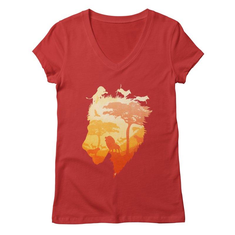 The Soul of a Lion Women's Regular V-Neck by DVerissimo's