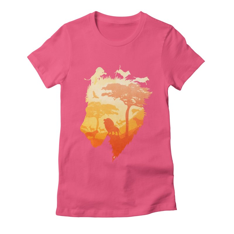 The Soul of a Lion Women's Fitted T-Shirt by DVerissimo's
