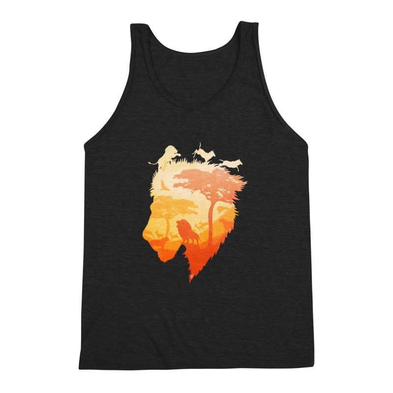 The Soul of a Lion Men's Triblend Tank by DVerissimo's
