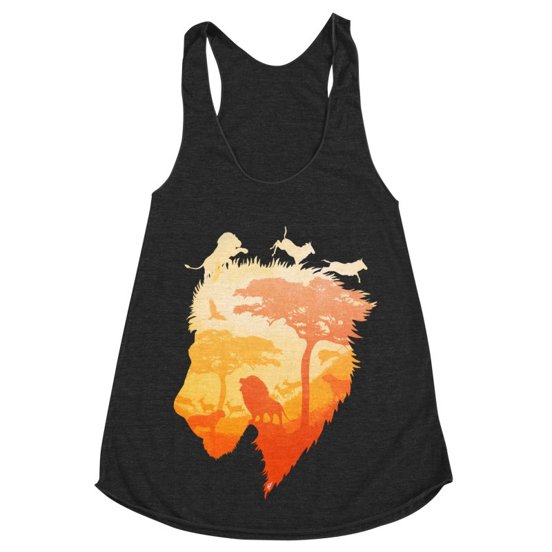 The Soul of a Lion Women's Racerback Triblend Tank by DVerissimo's