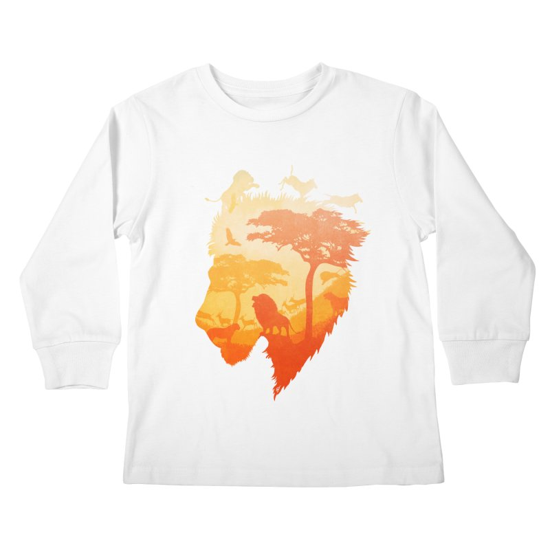 The Soul of a Lion Kids Longsleeve T-Shirt by DVerissimo's