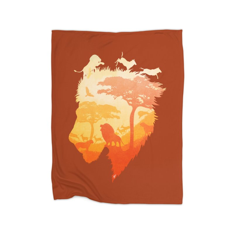 The Soul of a Lion Home Fleece Blanket Blanket by DVerissimo's