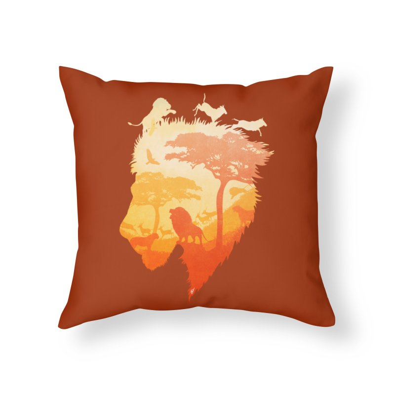 The Soul of a Lion Home Throw Pillow by DVerissimo's