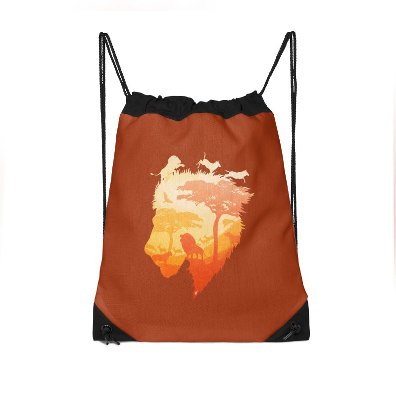 The Soul of a Lion Accessories Drawstring Bag Bag by DVerissimo's