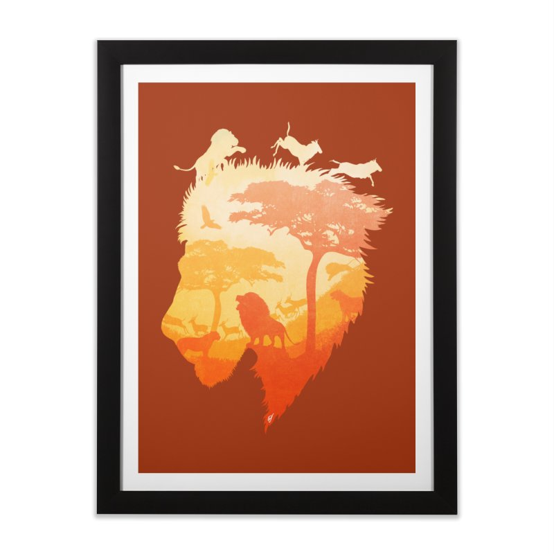 The Soul of a Lion Home Framed Fine Art Print by DVerissimo's