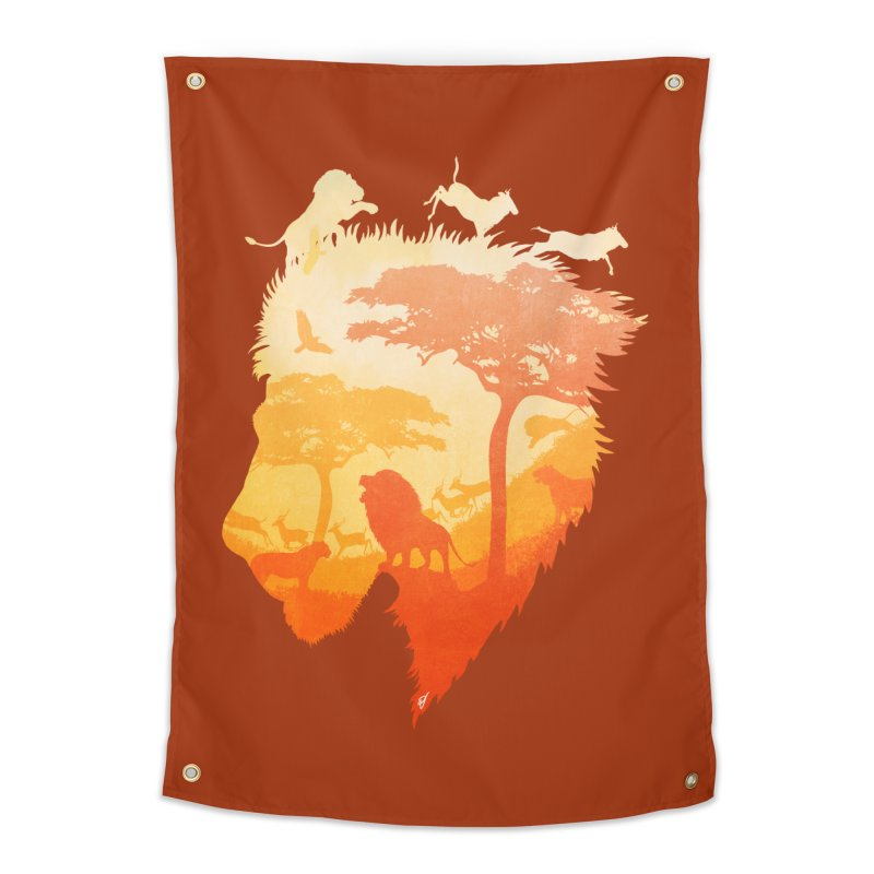 The Soul of a Lion Home Tapestry by DVerissimo's