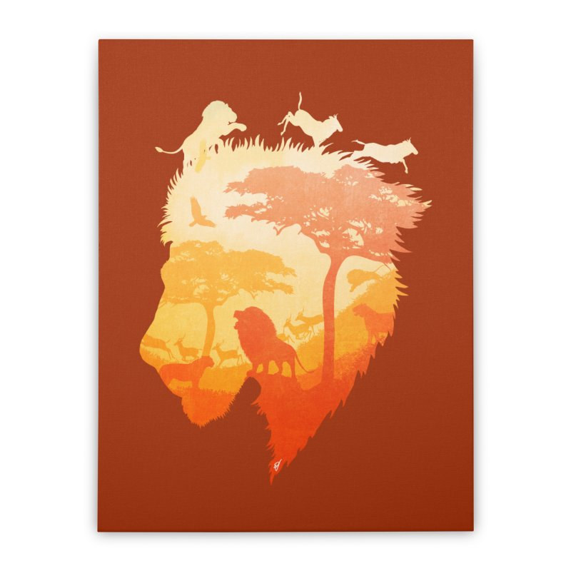 The Soul of a Lion Home Stretched Canvas by DVerissimo's