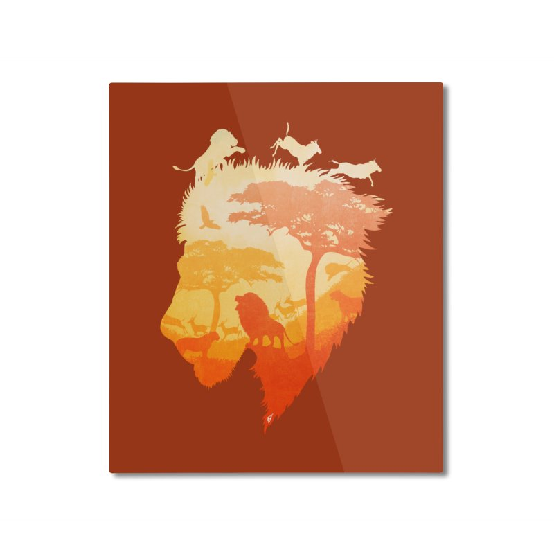 The Soul of a Lion Home Mounted Aluminum Print by DVerissimo's