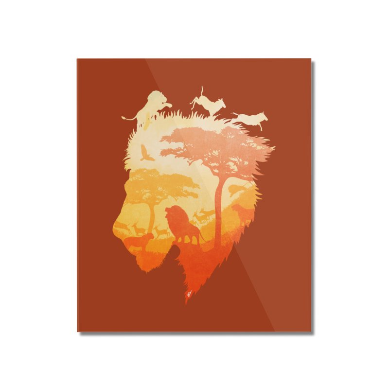 The Soul of a Lion Home Mounted Acrylic Print by DVerissimo's