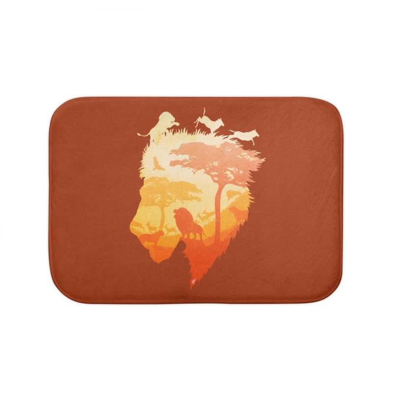The Soul of a Lion Home Bath Mat by DVerissimo's