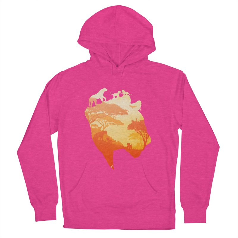 The Heart of a Lioness Men's French Terry Pullover Hoody by DVerissimo's