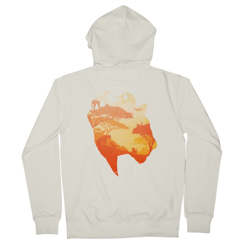 The Heart of a Lioness Women's French Terry Zip-Up Hoody by DVerissimo's