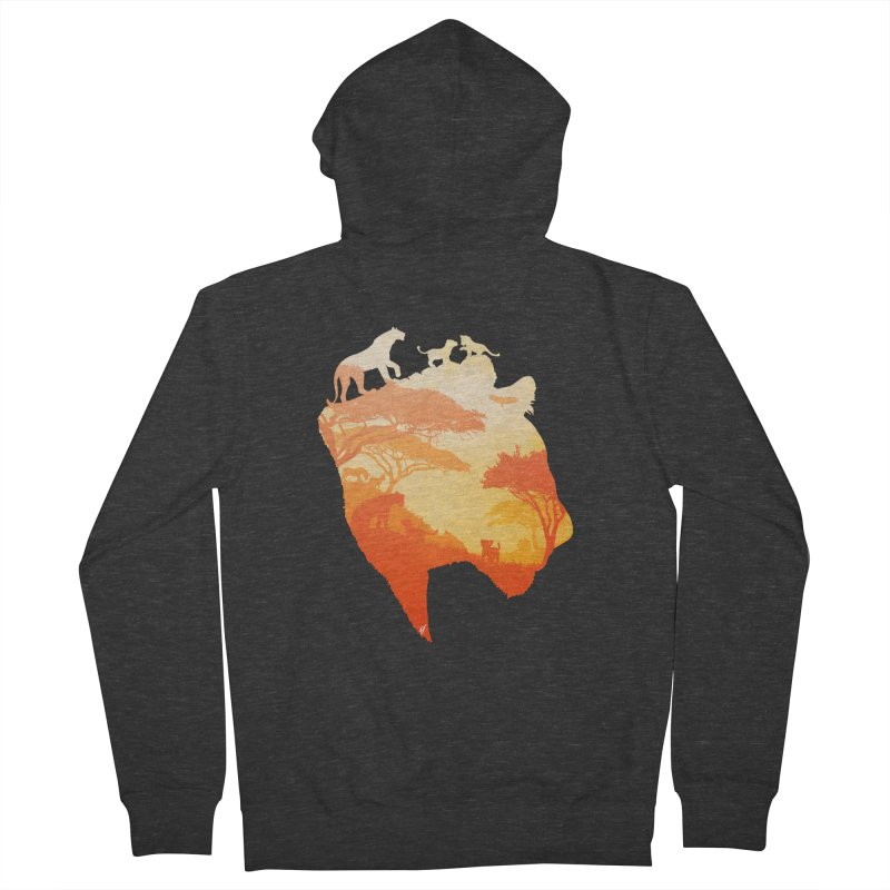 The Heart of a Lioness Men's French Terry Zip-Up Hoody by DVerissimo's