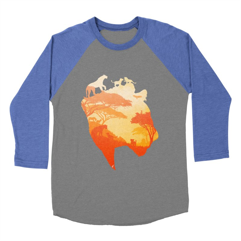 The Heart of a Lioness Women's Baseball Triblend Longsleeve T-Shirt by DVerissimo's