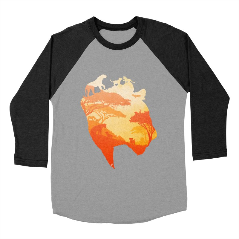 The Heart of a Lioness Men's Baseball Triblend Longsleeve T-Shirt by DVerissimo's