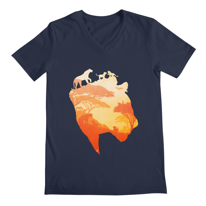 The Heart of a Lioness Men's Regular V-Neck by DVerissimo's