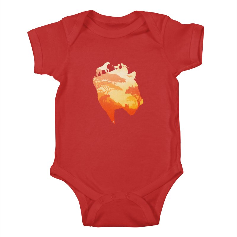 The Heart of a Lioness Kids Baby Bodysuit by DVerissimo's