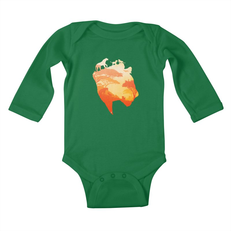 The Heart of a Lioness Kids Baby Longsleeve Bodysuit by DVerissimo's