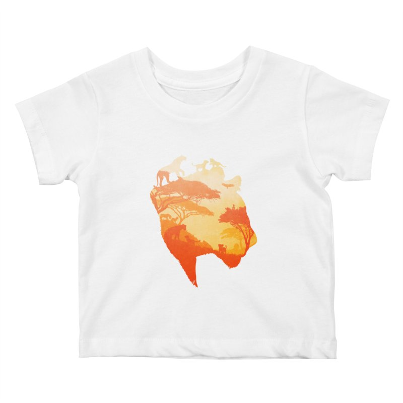 The Heart of a Lioness Kids Baby T-Shirt by DVerissimo's
