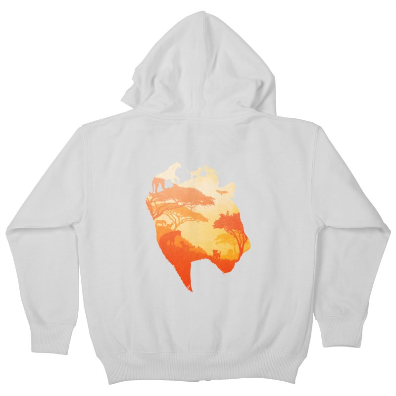The Heart of a Lioness Kids Zip-Up Hoody by DVerissimo's
