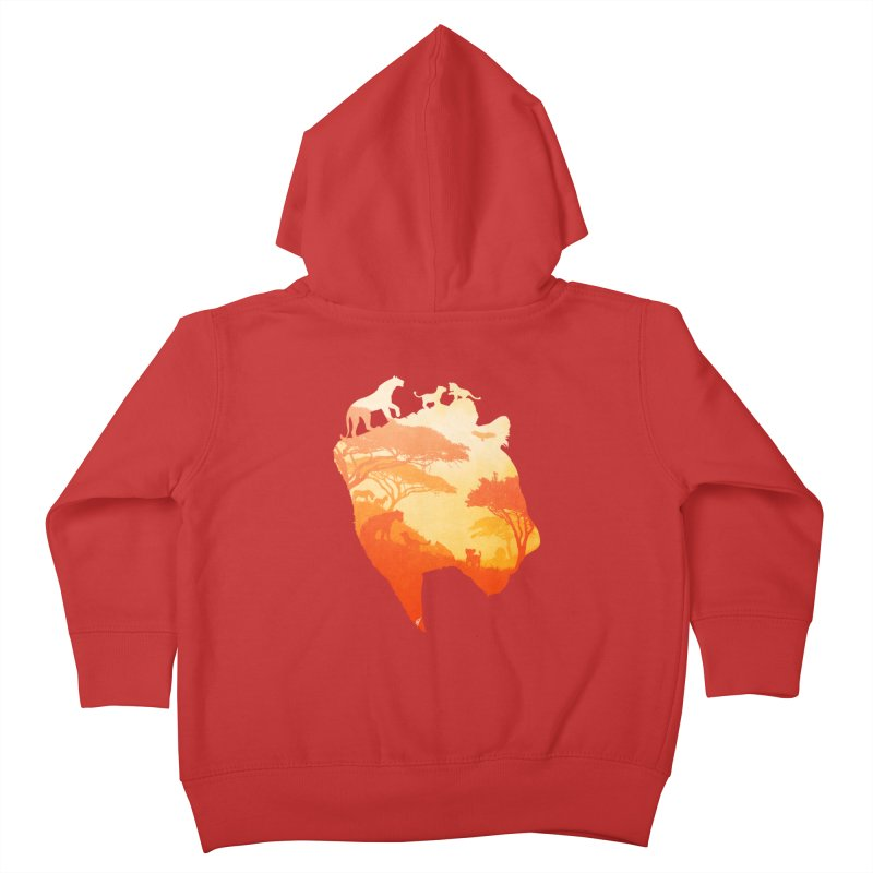 The Heart of a Lioness Kids Toddler Zip-Up Hoody by DVerissimo's