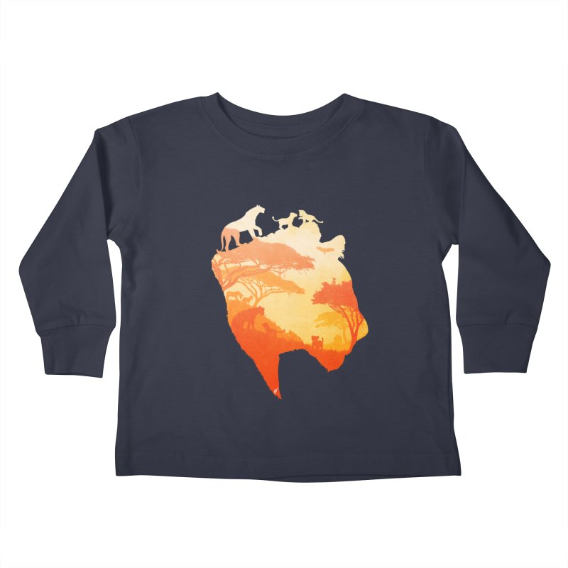 The Heart of a Lioness Kids Toddler Longsleeve T-Shirt by DVerissimo's