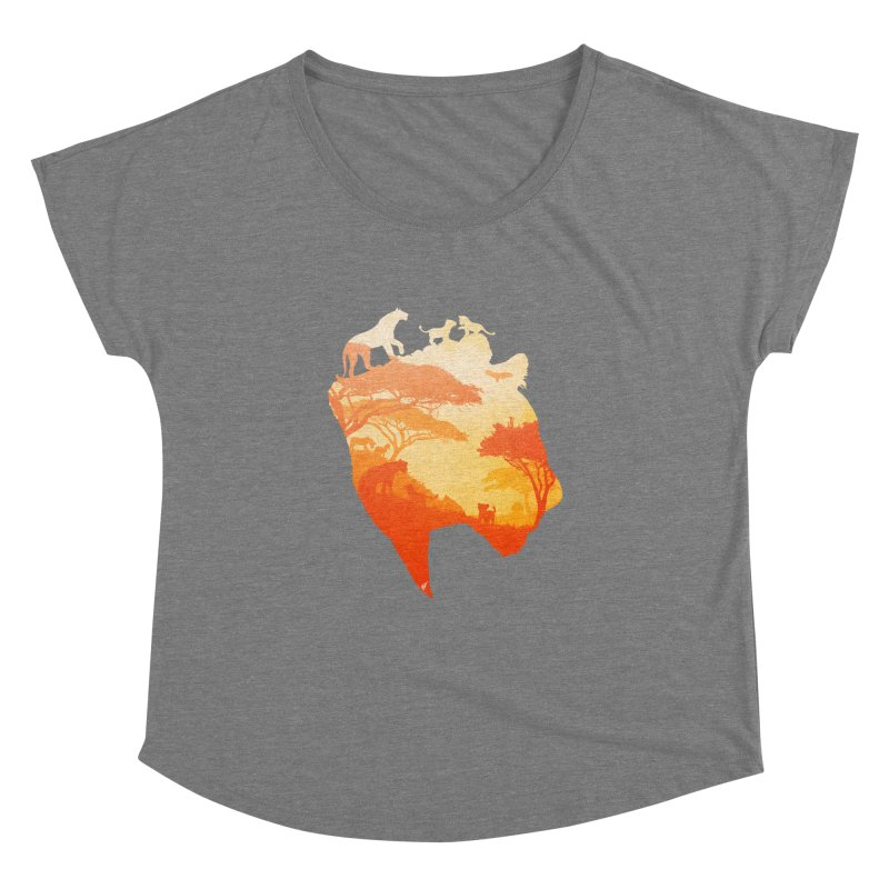 The Heart of a Lioness Women's Dolman Scoop Neck by DVerissimo's