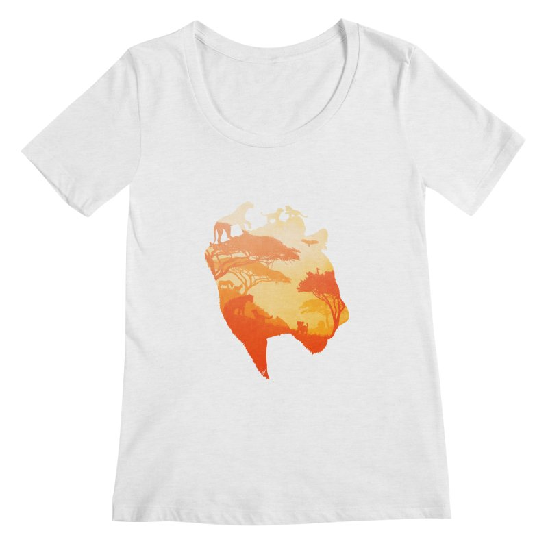 The Heart of a Lioness Women's Regular Scoop Neck by DVerissimo's