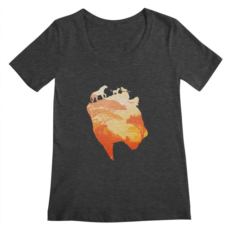 The Heart of a Lioness Women's Scoopneck by DVerissimo's