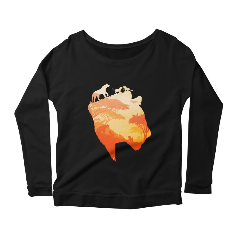 The Heart of a Lioness Women's Scoop Neck Longsleeve T-Shirt by DVerissimo's