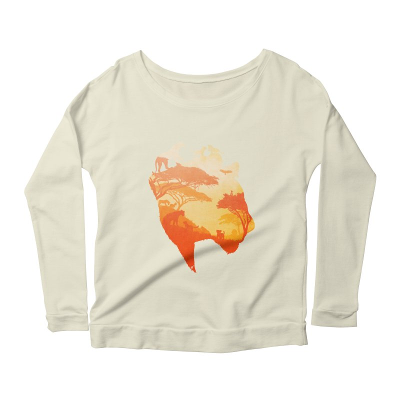 The Heart of a Lioness Women's Longsleeve Scoopneck  by DVerissimo's