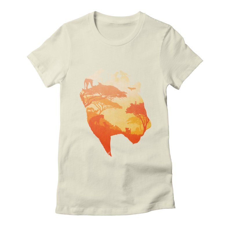 The Heart of a Lioness Women's Fitted T-Shirt by DVerissimo's