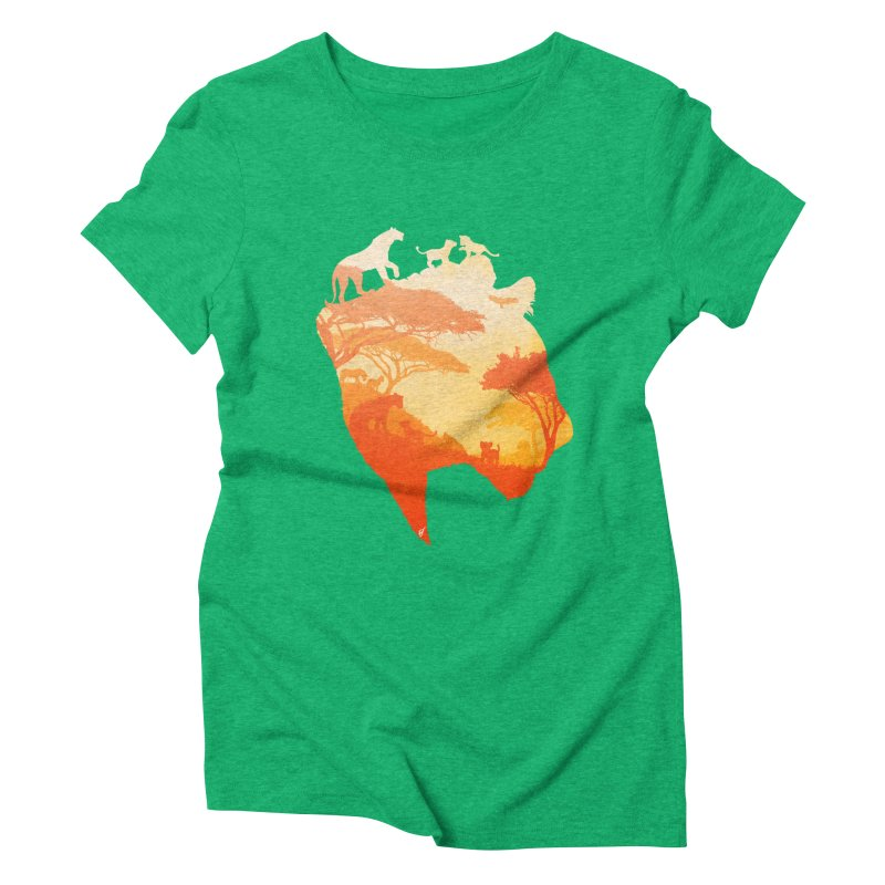 The Heart of a Lioness Women's Triblend T-Shirt by DVerissimo's