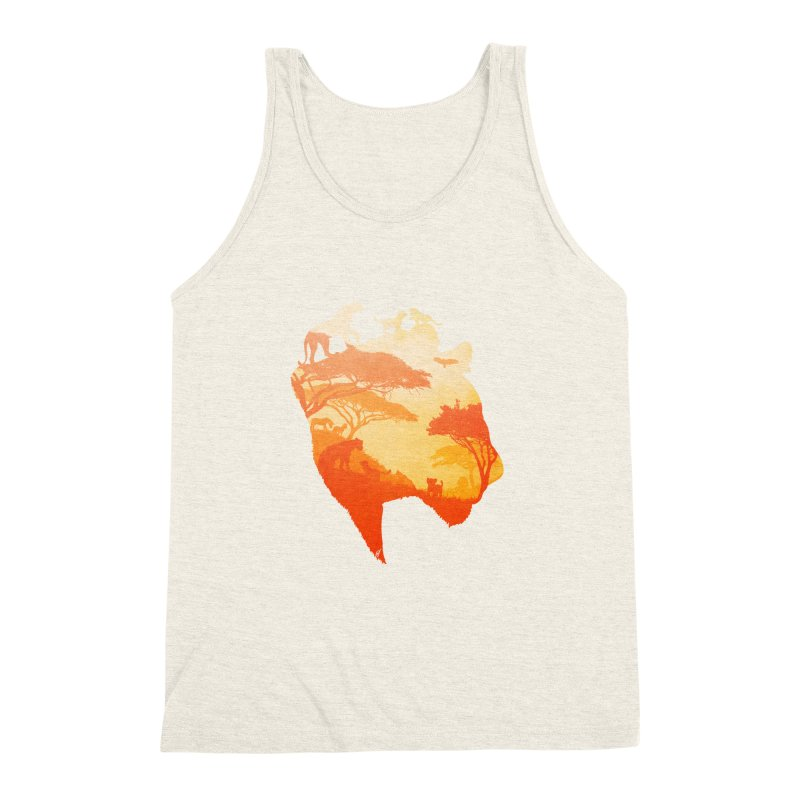 The Heart of a Lioness Men's Triblend Tank by DVerissimo's