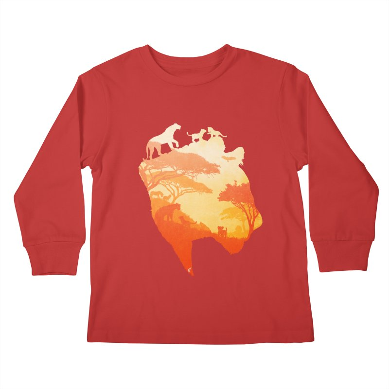 The Heart of a Lioness Kids Longsleeve T-Shirt by DVerissimo's