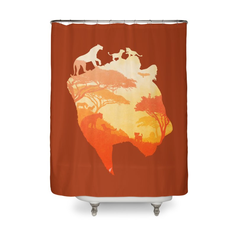 The Heart of a Lioness Home Shower Curtain by DVerissimo's