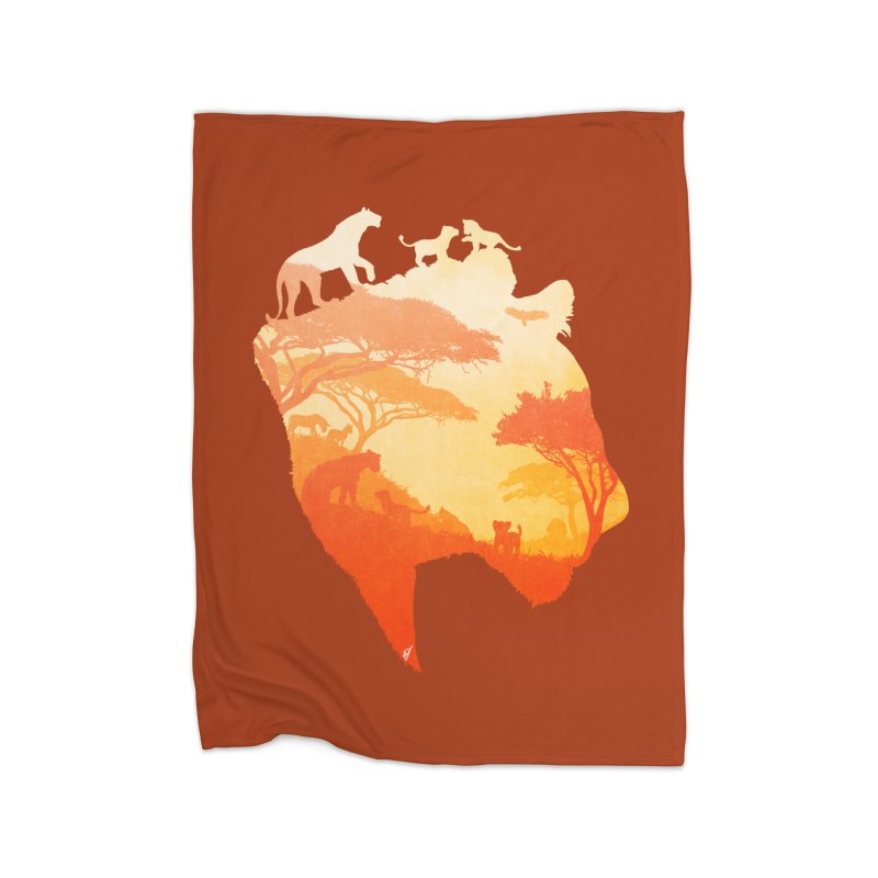 The Heart of a Lioness Home Fleece Blanket Blanket by DVerissimo's
