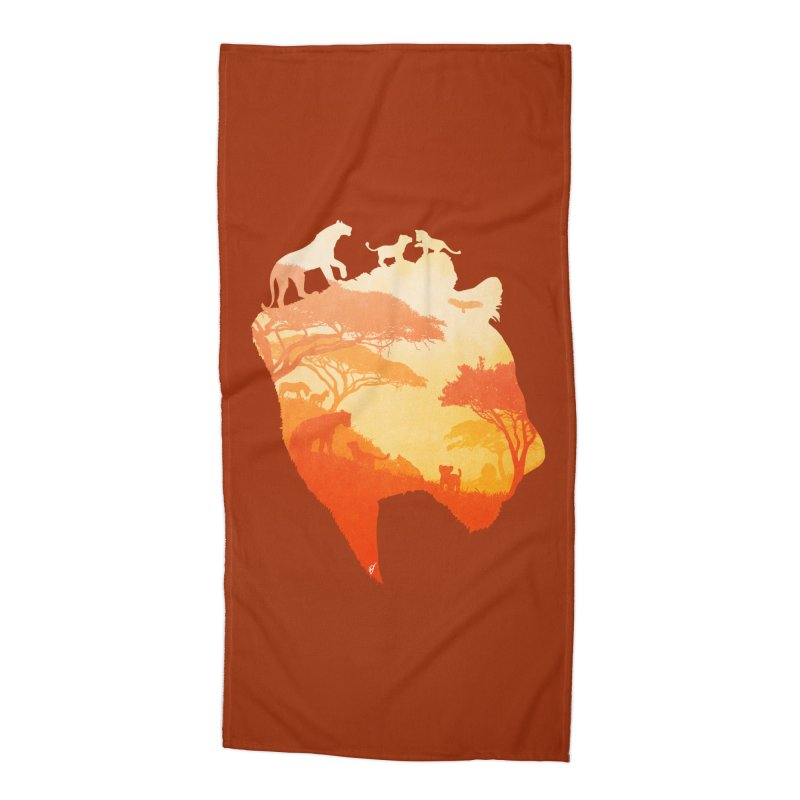 The Heart of a Lioness Accessories Beach Towel by DVerissimo's