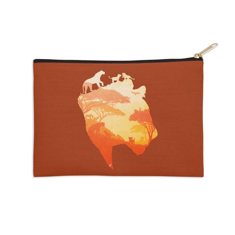 The Heart of a Lioness Accessories Zip Pouch by DVerissimo's